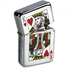 Tändare i Zippo-stil - King Of Hearts / Hjärter Kung